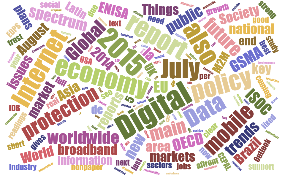 July 2015 Digital Economy Reports