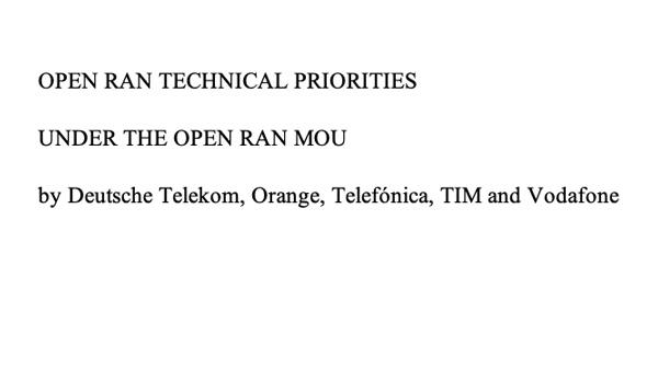 Open RAN Technical Priority Documen...