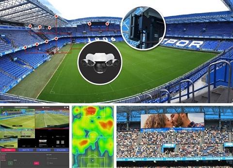 Telefónica, Real Club Deportivo, Cinfo y Ericsson dotan a Abanca-Riazor de la mayor instalación de cobertura y casos de uso 5G en un estadio europeo