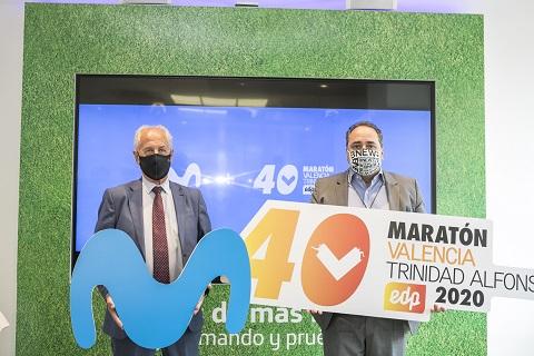 Movistar se convierte en el nuevo patrocinador tecnológico del  Medio y el Maratón Valencia