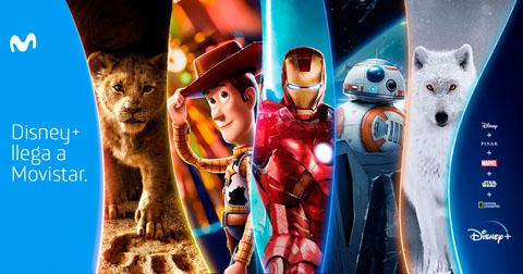 Movistar incorpora Disney+ a Fusión y pone al alcance de sus clientes la mayor oferta de entretenimiento