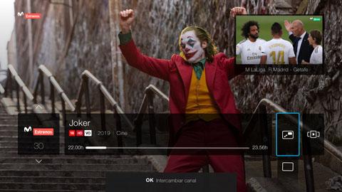 Movistar+ ofrece la posibilidad de tener una doble pantalla en televisión