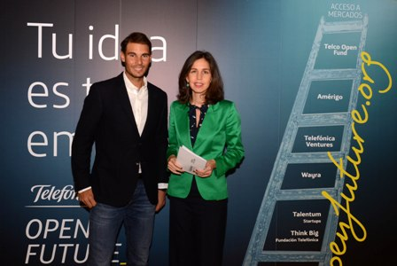 Rafa Nadal y Telefónica Open Future...