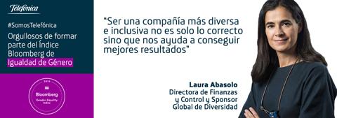 Telefónica figura en el Índice Bloomberg de Igualdad de Género por sus avances en diversidad