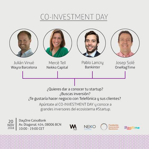 Wayra Barcelona lanza Co-Investment...