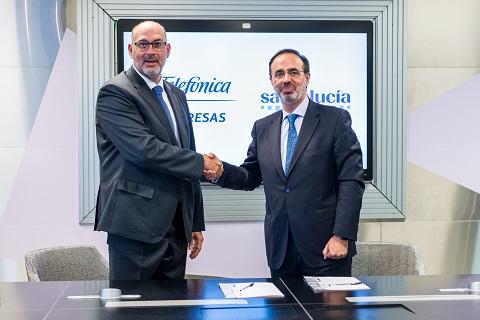Santalucía y Telefónica, socios para impulsar la digitalización de las comunicaciones de la aseguradora