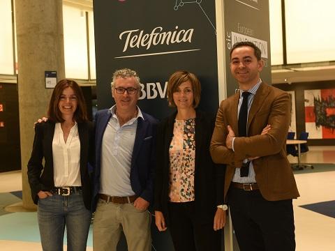 BBVA y Telefónica exploran oportunidades de negocio con statups con el apoyo de la CE