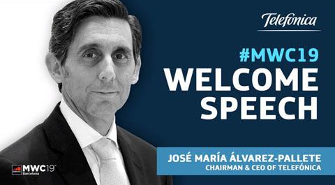"""José María Álvarez-Pallete: """"Nuestro sector se ha convertido en parte esencial de la vida de las personas"""""""