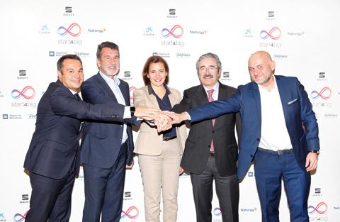 Aigües de Barcelona, CaixaBank, Naturgy, SEAT y Telefónica se alían para atraer talento y escalar la innovación española