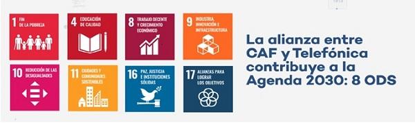 Telefónica y CAF reafirman su colaboración estratégica para impulsar la digitalización en la región