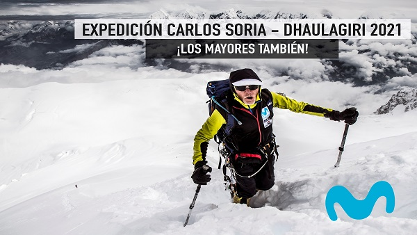 Telefónica con Carlos Soria, alpinista de 82 años, en su expedición al Dhaulagiri en el Himalaya